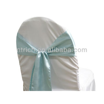blue, fancy vogue satin chair sash tie back,bow tie,knot,chair ties for weddings