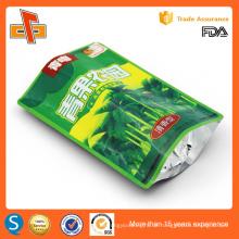 Hochwertige chinesische Lebensmittelqualität wiederverwendbare Stand up wiederverwendbare Zipper Tasche