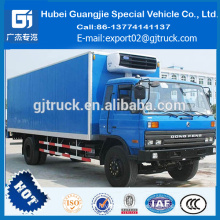 Dongfeng 4*2 refrigerator van truck for meat delivery refrigerator compressor