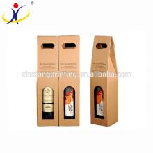 As caixas de papel de varejo do costume Kraft de Brown escolhem caixas do vinho