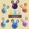 Crochet Bunny Egg Easter Healing Couple Rabbit Head Pendant