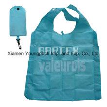 Azul promocional impermeable 190t tela de nylon plegable regalo bolsa