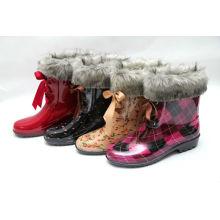 zapatos de moda de la lluvia del tobillo de las muchachas botas de lluvia de pvc