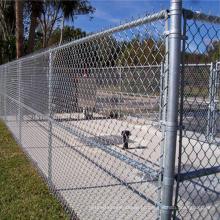 Painéis galvanizados da cerca do elo de corrente da cerca da malha do elo de corrente da calibre 9 do calibre