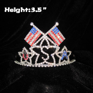 Crystal USA Flag Pageant Crowns Forth Of July Festival Crowns