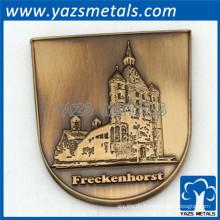 2015 geprägte 3d Metall antike Kupfermünze