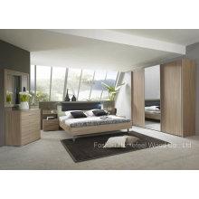 Conjunto de quarto de madeira de design moderno (HF-EY090423)