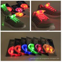 Wegwerf farbige blinkende LED-runde Schuh-Teile und Nylonschnürsenkel