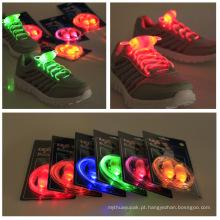 Peças das sapatas redondas de piscamento coloridas descartáveis do diodo emissor de luz e laços de nylon