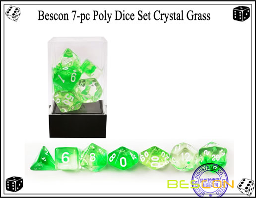 Crystal Green Dice Set-4