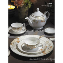 A039 bone china western ceramic tableware set