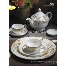 A039 bone china western ceramic tableware set