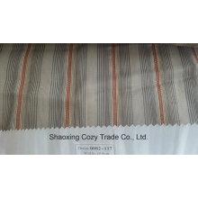 Nouveau tissu de rideau transparent Organza VoIP à rayures de projet populaire 0082117