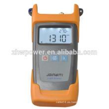 Herramienta de fibra óptica, fuente de luz óptica JW3111 inteligente, fuente de fibra óptica del laser