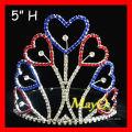 Corona patriótica de la tiara del desfile del corazón