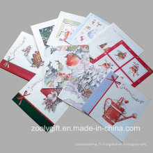 Vente en gros de cartes de voeux de Noël promotionnelles