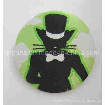Crachá personalizado do botão da placa de lata do bordado (emblema do botão-66)
