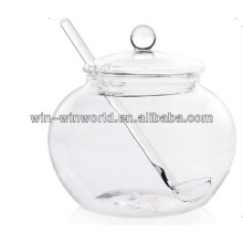 China Wholesale Most Popular Glass Storage Jar With Glass Lid