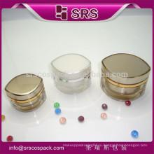 SRS Китай Набор кремового контейнера Косметические контейнеры пластикового типа косметические банки