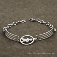 Bracelet en acier inoxydable modèle petit garçon charme bijoux pour enfants