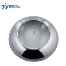 Adjustable stainless steel pot cover with glass window