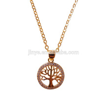 Fashion Golden Plated Baum des Lebens Halskette, Yoga Baum des Lebens Schmuck