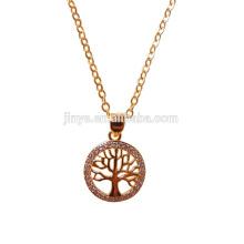 Collar dorado del árbol de la vida de la moda, joyería del árbol de la vida del yoga
