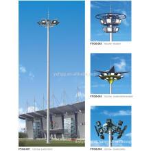 Q235B Iluminação de mastro alto Pólo poligonal de aço