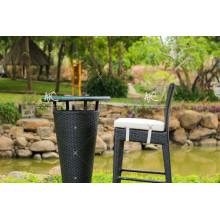 Synthetic Poly PE Rattan Bar Set For Outdoor Garden