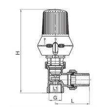 바닥 난방 온도 조절 라디에이터 밸브