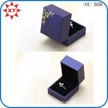 Boîte d'anneau de mariage de luxe fait sur commande de logo d'impression