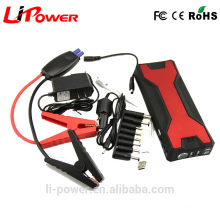 V18 Portable 12V 18000mAH emergency power bank Mini car jump starter with smart car jumper cable
