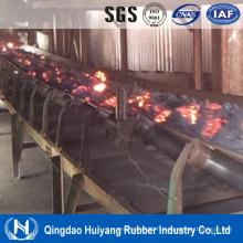 Types de bande transporteuse résistante à la température élevée pour convoyeur à bande