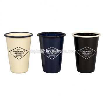 углерода стальной эмали тумблер кружка 11oz / 310ml для кемпинга с ободком стакан кружка