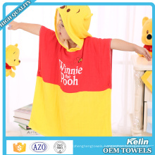 large stock 100% cotton surf hooded poncho towel