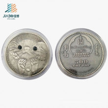 Moneda de recuerdo de metal de regalo de Koala australiana de plata antigua personalizada