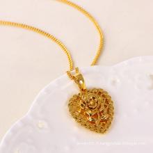 Pendentif fleur Xuping plaqué avec 24k d'or