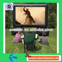 2015 novo design publicidade tela inflável, tela de filme inflável