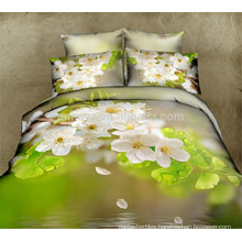 Oriental 3D Floral Duvet Cover Cushion Cover Bed Sheet 6PCS Bedding Sets