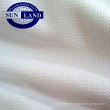 100% Polyester gebleichtes Bird-Eye-Netzgewebe zum Drucken