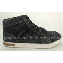 Fashion High Top Casual Street Washed Denim Shoes