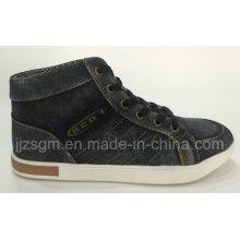 Alta Moda Top Rua Casual lavado Denim Sapatos