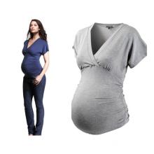 Fashion New Style Elegant Bamboo Cotton Maternity Clothes