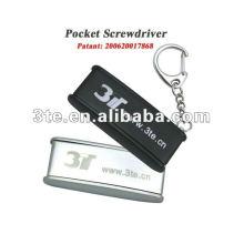 Optical Pocket Screwdriver Keychain Screwdriver