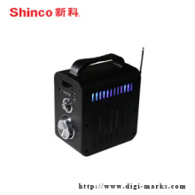 Mini altavoz estéreo portátil de Bluetooth de la etapa de radio del LED