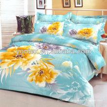 Panel sunflower print bedding set