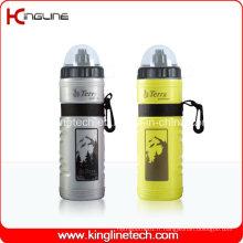 Bouteille d'eau de sport en plastique, bouteille de sport en plastique, bouteille de sport de 750 ml (KL-6714)