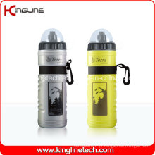 Garrafa de água de plástico, garrafa de esportes plástica, garrafa esportiva de 750 ml (KL-6714)