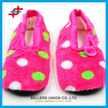 China slipper shoes factory/new designs winter warm quite ladies slipper shoes