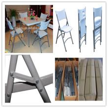 Silla plástica vendedora caliente del nuevo diseño / silla barata al por mayor de HDPE del molde del soplo de la alta calidad / silla plegable que acampa al aire libre de la comida campestre (HQ-X53)